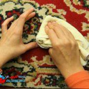 پاک کردن لکه خون از روی فرش