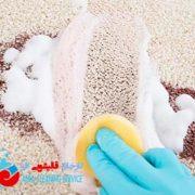 روش خانگی برای از بین بردن لکه فرش